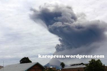Letusan kedua Gunung Sinabung. (KaroPress/Adhif)